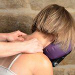Bedrijfsmassage en soepele spieren. week van de werkstress
